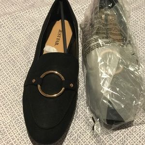 Just fab black loafers